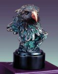 Small Bronze Eagle Head Bronze Electroplated Resin Eagle Sculptures