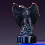 Perched Eagle Bronze Electroplated Resin Eagle Sculptures