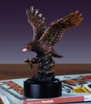 Going in for the Kill Bronze Electroplated Resin Eagle Sculptures