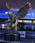 Spread Your Wings and Fly Bronze Electroplated Resin Eagle Sculptures
