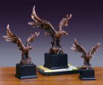 Wings Spread Bronze Electroplated Resin Eagle Sculptures