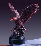 Eagle with Fish Bronze Electroplated Resin Eagle Sculptures