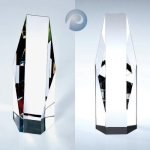 Octagon-Clear/ Color Clear Optical Crystal Awards