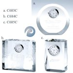 Optical Crystal Clocks Crystal/Jade Glass Clocks