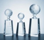 Optical Crystsal Golf Award Crystal Trophies