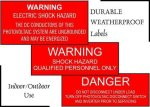Durable Weatherproof Labels CUSTOM Solar Weatherproof Labels
