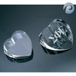 Optical Crystal Heart Paperweights