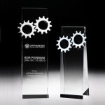Gear Tower Crystal Award Sales Awards
