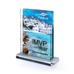 Multi-Dimensional Lucite with Center Cutout Sales Awards